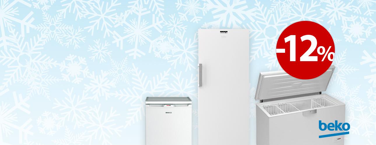 Izbrane zamrzovalne omare Beko -12%