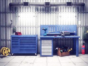 Lestve in oprema delavnice