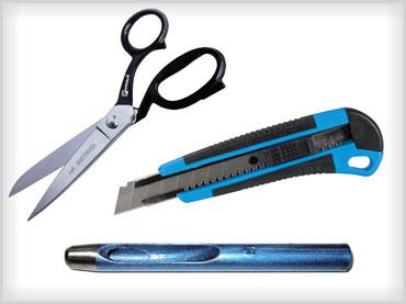 Noži, škarje in luknjači