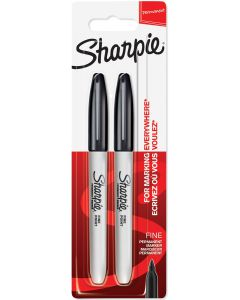 USTVARJALNI SET SHARPIE MARKER SHARPIE FINE 2/1 BLACK - BLISTER