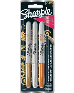 USTVARJALNI SET SHARPIE MARKER SHARPIE FINE 3/1 METALLIC-BLISTER