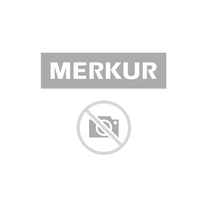 ŠUKO VTIKAČ TRITECH P 1, RAVNI BELI, PVC, PAKIRAN