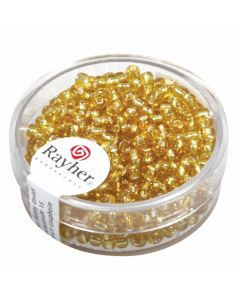 PERLE RAYHER TRANSPARENT GOLD 2.6MM 16 G