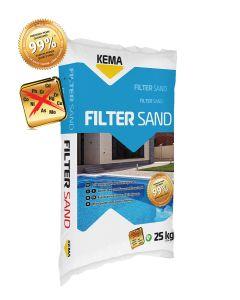 PESEK, NARAVNI FILTER KEMA SAND 80 / 0.4-0.8MM 25KG SUHI / ZA BAZENE